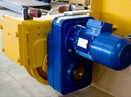 Geared motor unit for travelling and steering AMIO