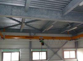 Light handling, single-girder overhead crane